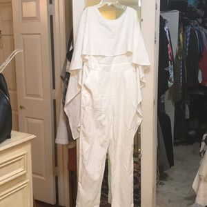 Pants - White jumpsuit